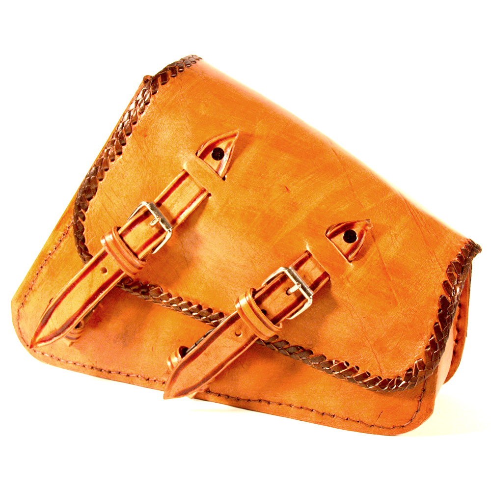Viclista Swing Arm Bag by RAA Leather (tan, lisa)